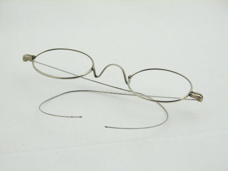 Antique Reading Glasses silver wire-rim glasses Ben