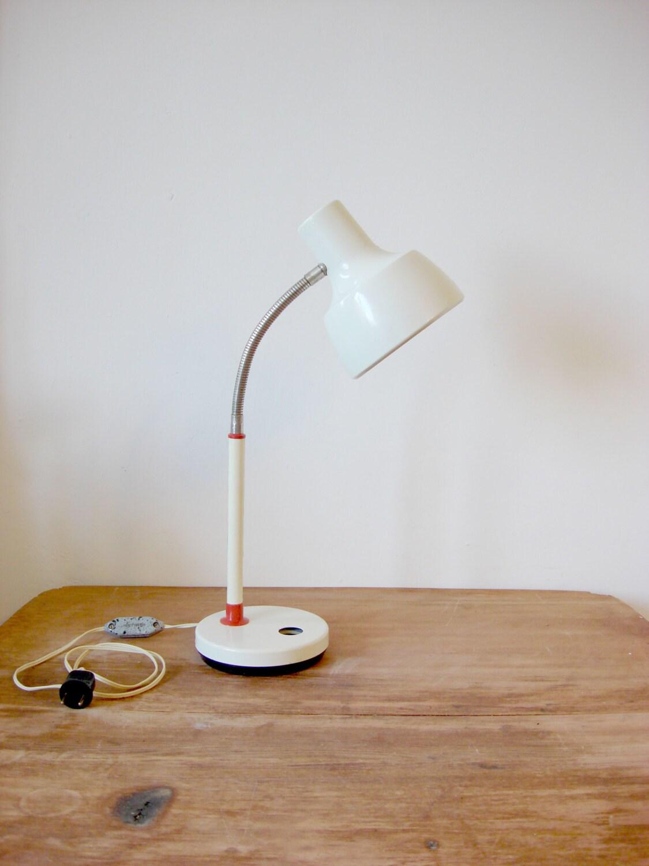vintage gooseneck lamp metal desk lamp by oldmoscowvintage. Black Bedroom Furniture Sets. Home Design Ideas
