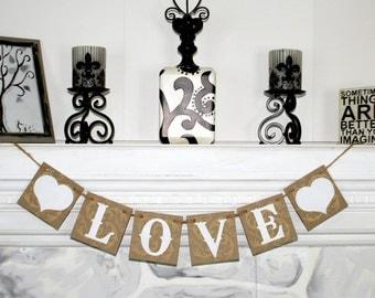Valentines Decor LOVE BANNER  Happy Valentines Day  - Photo Prop