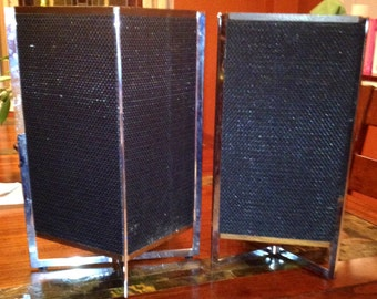 Pair of Mid Century Modern Omnidirectional Speaker Boxes
