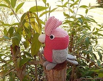Amigurumi Crochet Pattern - Galah  Pattern No.38