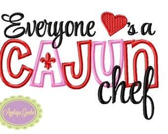 Everyone Loves a Cajun Chef Machine Embroidery Applique Design