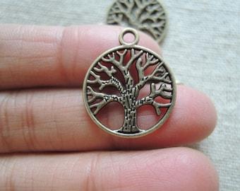 20pcs 20mm Antique Bronze  tree  charming ( A295)