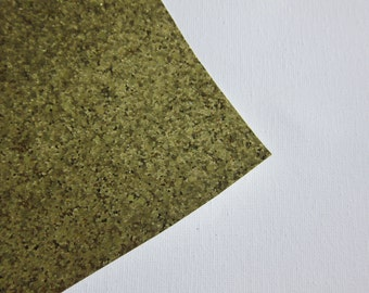 Glitter Fabric Material Yellow/Bright Gold 8X10 sheet