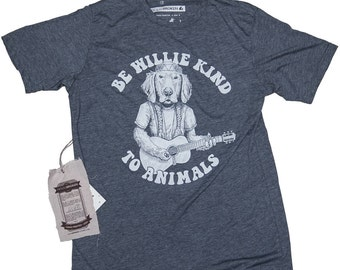 Golden Retriever Shirt. Men's Willie Nelson Tee in Sizes Small to XXXL