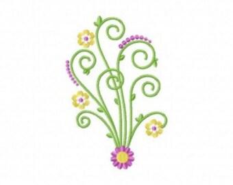 Curly Cute Design Machine Embroidery Design