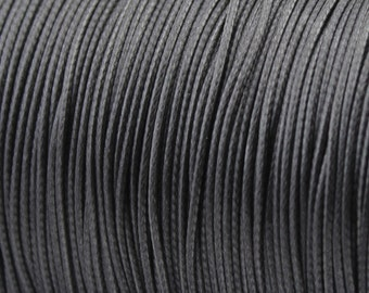 30 ft. 1.0/ 1.5/ 2.0mm Dark Grey Waxed Cotton Cord, Environmentally Friendly Materials