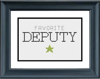 Favorite Deputy - Toy Story - Disney - Pixar - PDF Cross-Stitch Pattern