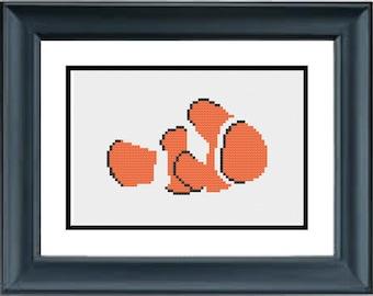 Nemo - Finding Nemo - Disney Pixar - PDF Cross-Stitch Pattern