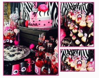 Barbie Birthday party Barbie Party kit Barbie Glam Barbie silhouette printable party kit