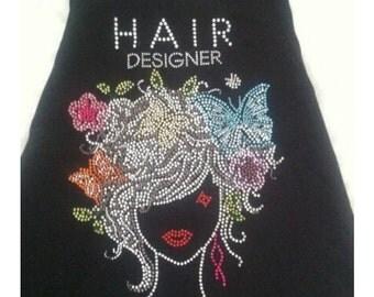 Blinged Hair Dresser apron
