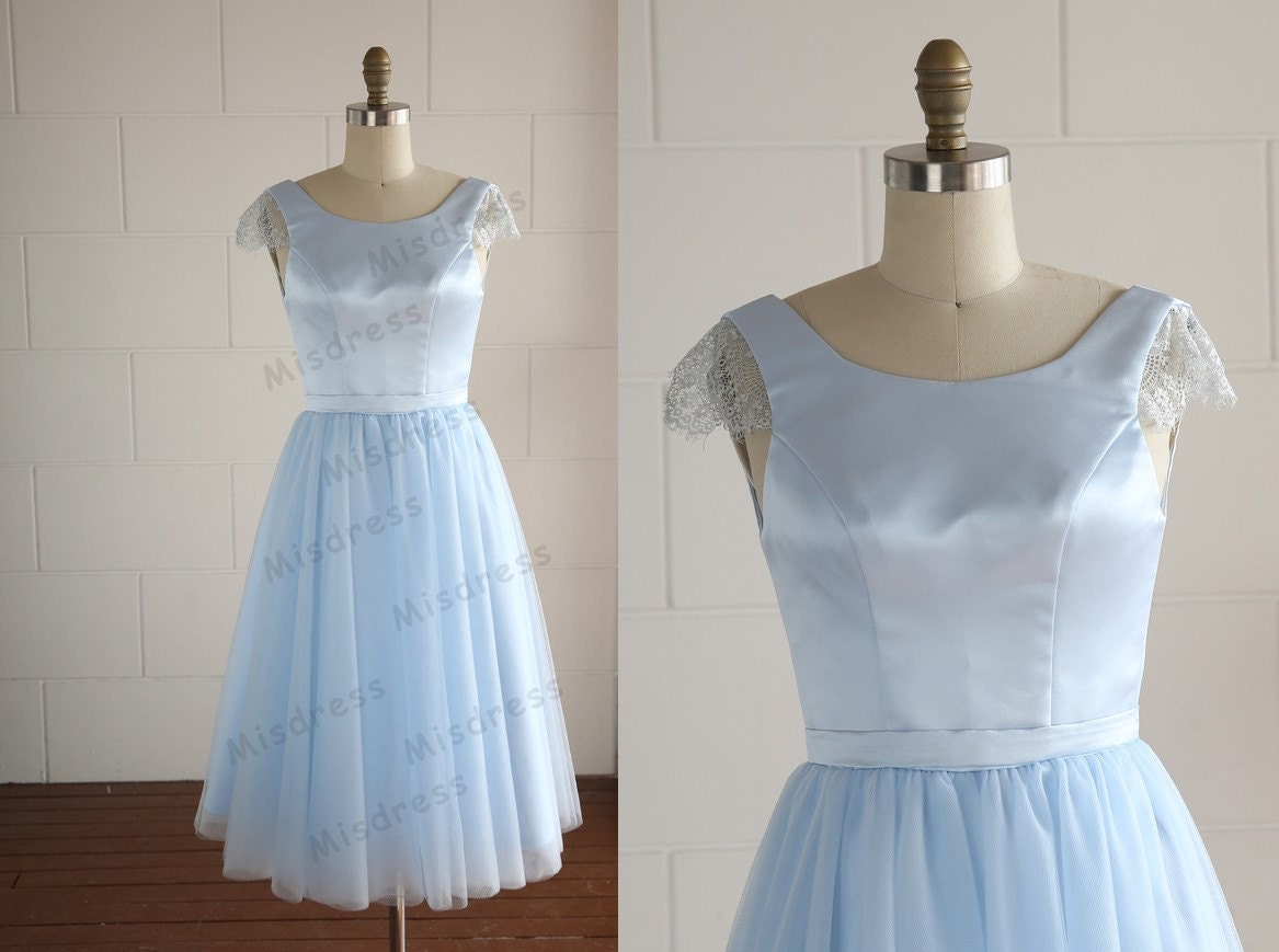 Mint Blue Lace Tulle Wedding Dress/Bridesmaid By Misdress On Etsy ...