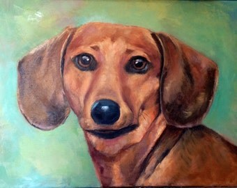 "12""x12""  or 12""x16"" Custom Oil Portrait of your Pet or favorite animal from photo"