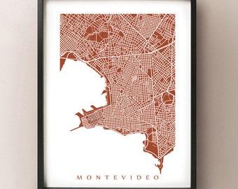 Montevideo Map Print