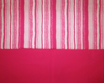 Car Seat Blanket - Swaddle - Stroller Blanket - Pink and White Stripes