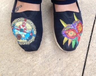 Zelda Majora's Mask Hand Painted Toms Shoes