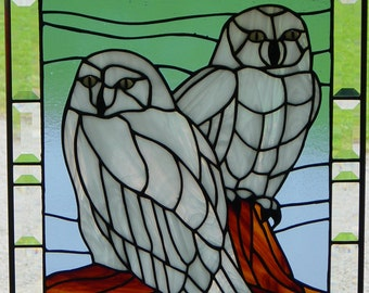Stained Glass Owls