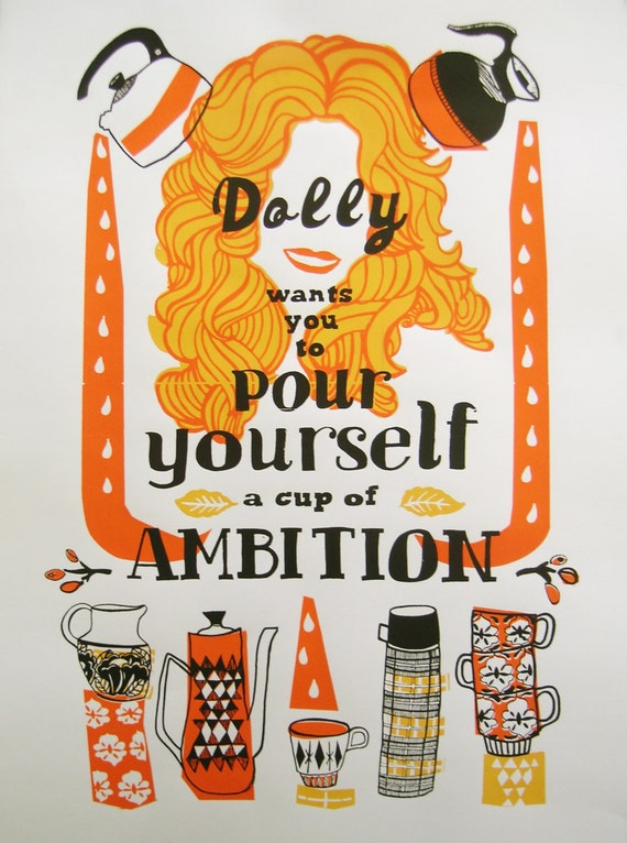 The Little Prince Inspired Quote 2nd Edition Art Print: Dolly Parton Screenprint Hand Printed Silkscreen Poster