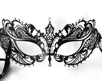black lace masquerade mask, prom masquerade mask, wedding masquerade mask, bachelorette sash