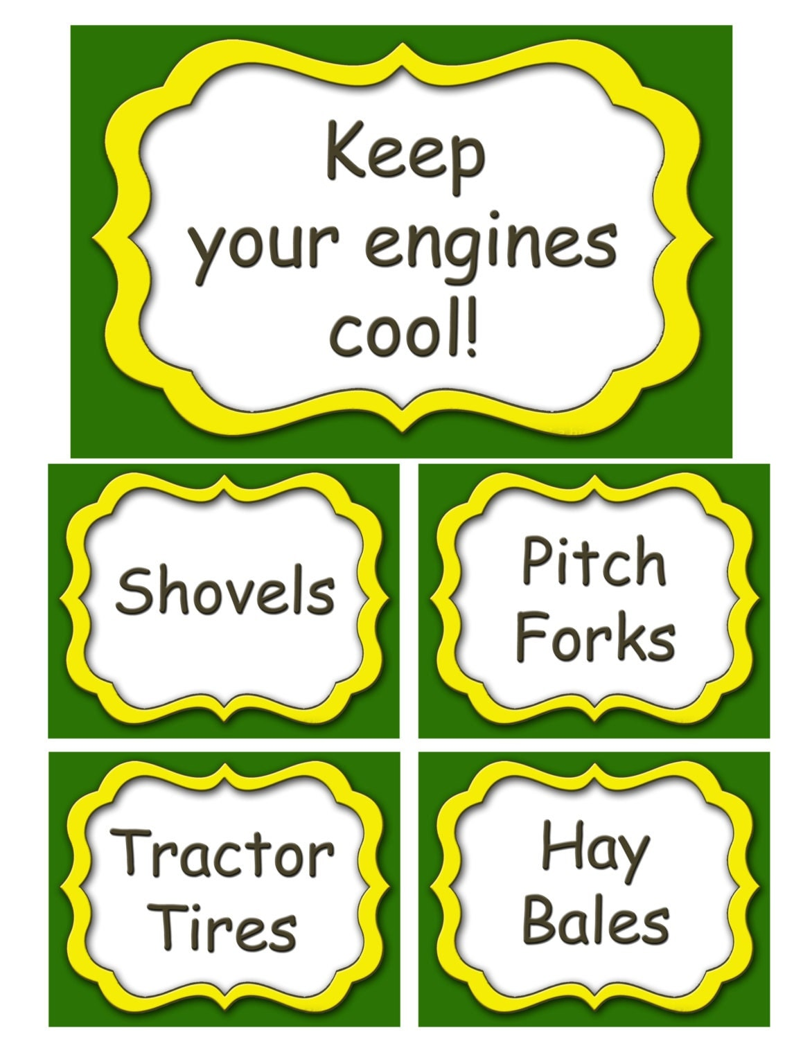 This is a graphic of Luscious John Deere Printable