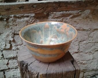 rice bowl, ceramic stoneware, handmade german pottery