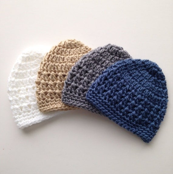 Baby Boy Newborn Hat Crochet Pattern : Baby Boy Crochet Hat Pattern Newborn up to 6 months