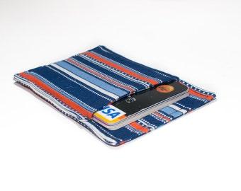 Credit card wallet - Minimalist wallet - Slim business card holder - Colorful wallet - Blue Orange white