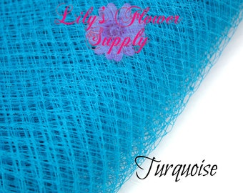 Russian Veil - Birdcage Veil Netting - Turquoise - Veil 1 YARD - French Nettin - DIY Fascinators - Russian Veil - Wedding Veils