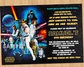 Star Wars Birthday Invitation - Star Wars Invitation Birthday - Star Wars Party Invite - Star Wars Birthday Party Printable Episode 4