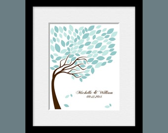 Wedding Tree Guestbook, Signature Tree Guestbook, Wedding Guest Signature Tree, Alternative Wedding Guest Book, 100 Leaves Signature Tree