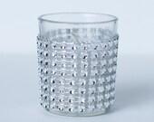 Set of 100 Votive Candles Elegant Silver Wedding Rhinestone Look **FREE SHIPPING**