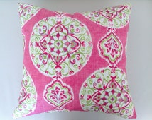 Pink Boho Linen Cushion Boho Pillows, Bohemian Cushions, Pillows Pink Cushions Lumbar Pillow Designer Cushions Designer Pillows Linen