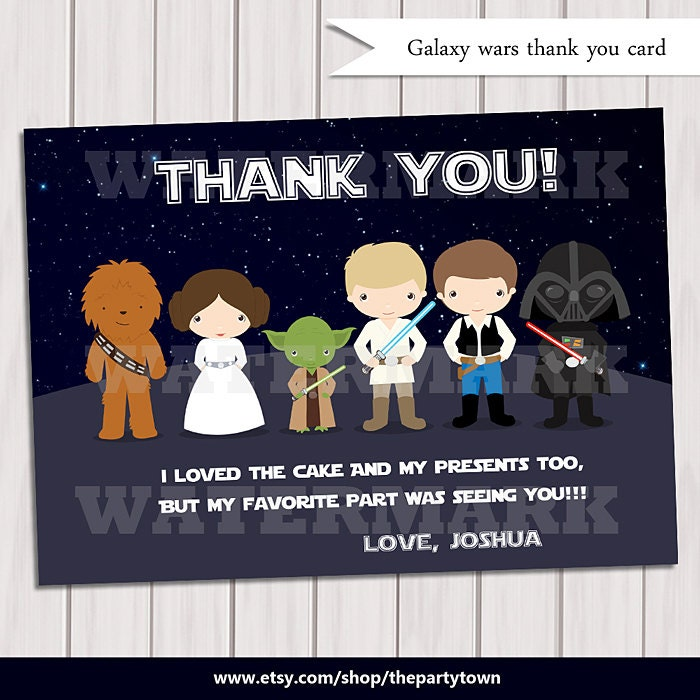 Gorgeous image with star wars thank you cards printable free