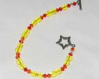 Citrine and Fire Opal Swarovski Crystal Bracelet