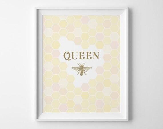 Children S Party Box Wall Art For Girl S Bedroom: Kids Pre Teen Gift Queen Bee Art Teen Girl Room Decor