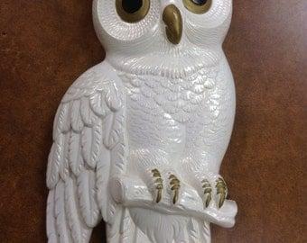 Vintage Chalkware Owl 1978 Miller Studio Inc