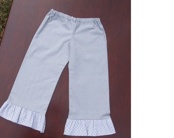 Gray Ruffle Pants: 12 month to Size 5