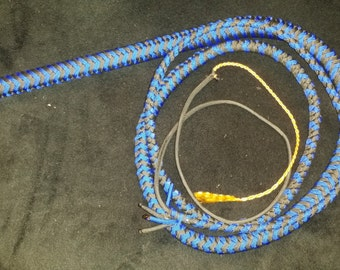 Royal Blue and Black 6ft 12 Plait Paracord Bullwhip