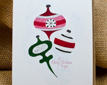 Ornament Trio, Christmas Card