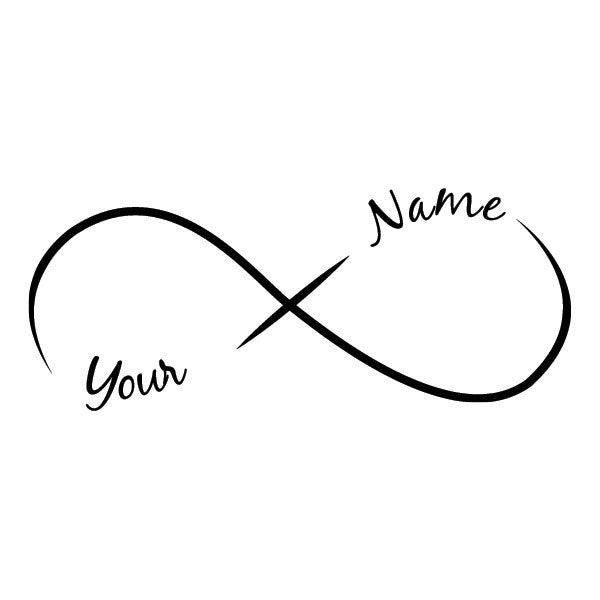 infinity add a name temporary tattoo 2 names by tattoofun on etsy. Black Bedroom Furniture Sets. Home Design Ideas