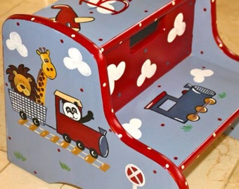 Child's Hand Painted Step Stool