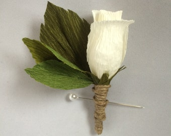 Crepe Paper Boutonnieres and Wrist Corsages for Weddings and Special Events: Choose Your Colors