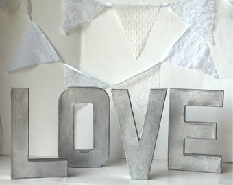 Large Galvanized Letters Small To Extra Large Corrugated Metal Letters