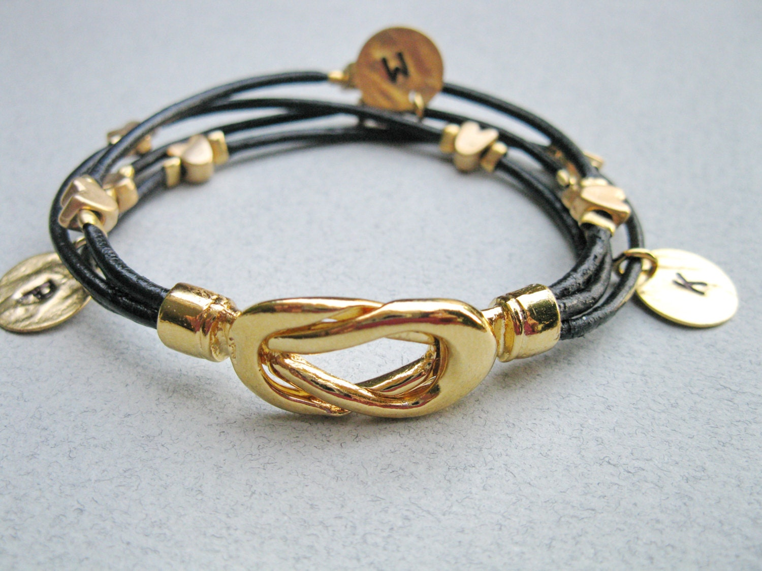 personalized bracelet leather infinity bracelet by