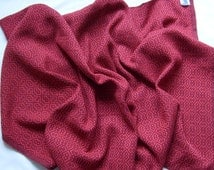 Made to Order, Hand Woven Afghan, Lap Blanket, Red and Burgundy Cotton Blanket, Travel Rug, Snuggle Blanket