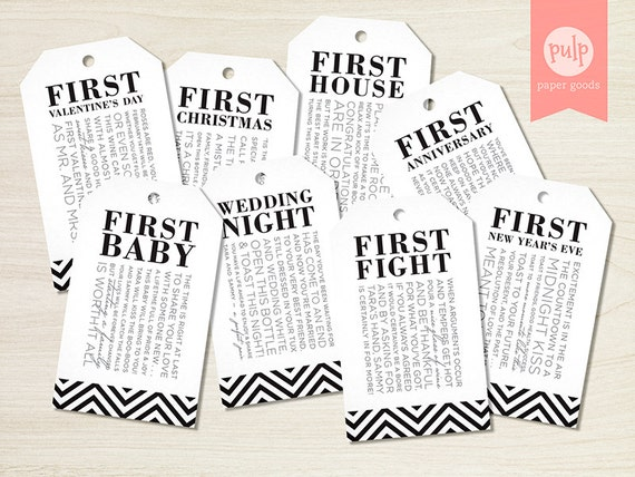 PRINTED ITEM: Bridal Shower Wine Tags with Poems for Wedding