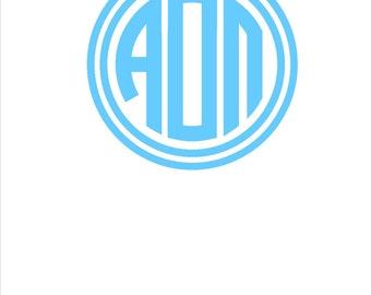 "Alpha Omicron Pi Sticker Decal Greek Letter 5"" Buy 2 Get 1 Free"