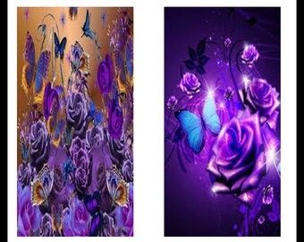 Roses - Digital Download Dominoe Sheet - Collage Sheets - Dominoe Jewelry - Purple Roses Jewelry - Downloadable Images - Rectangles - DDP131