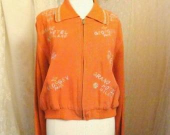 Beautiful Vintage 'Sample' Orange Jacket
