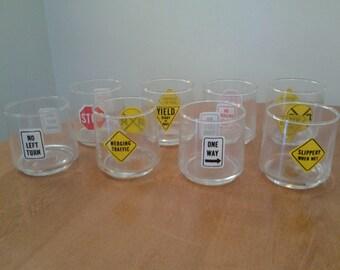 Set of 8 vintage Anchor Hocking glasses